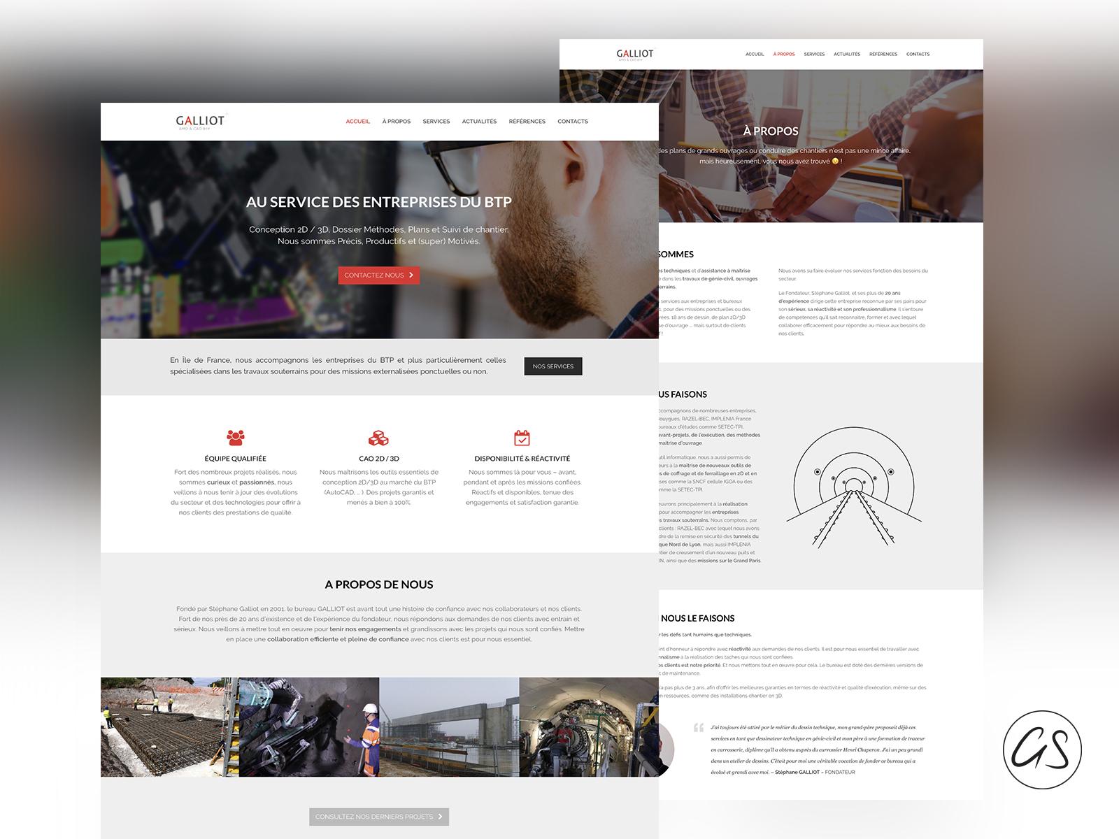 Création de Site Internet - Bureau Galliot - 77