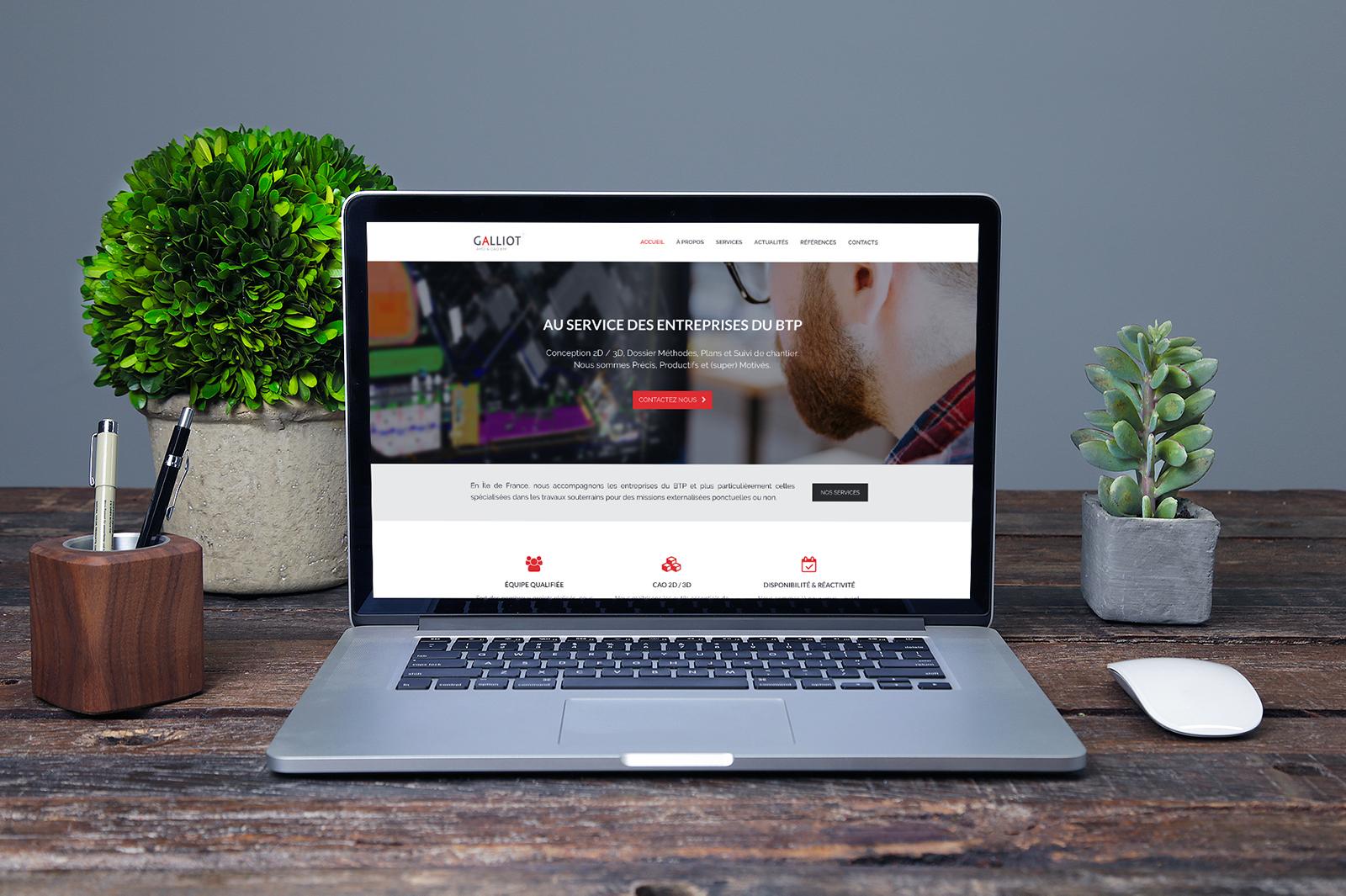 Création de Site Internet - Bureau Galliot