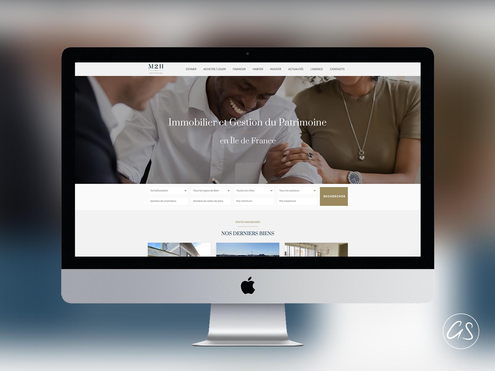 Création de Site Internet d'une agence Immobilière Parisienne (75)