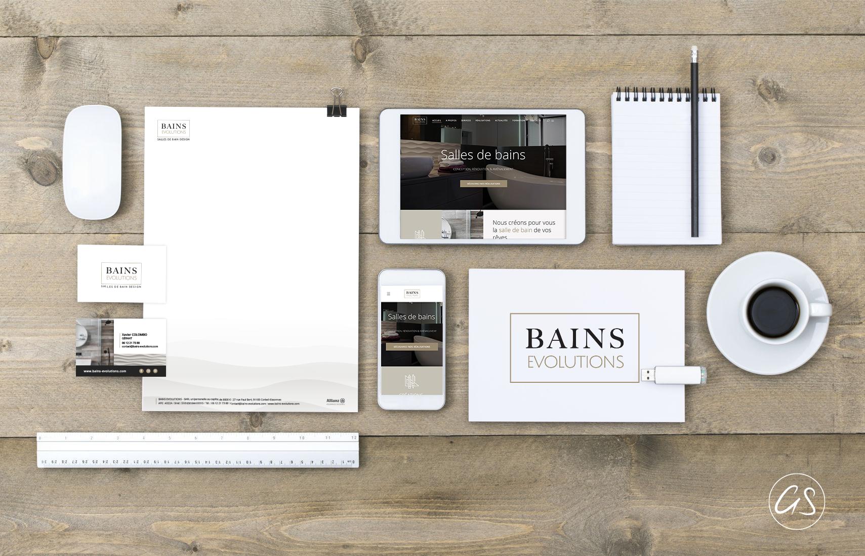 Identité Graphique et visuelle Entreprise de Renovation Haut de gamme de salle de bains