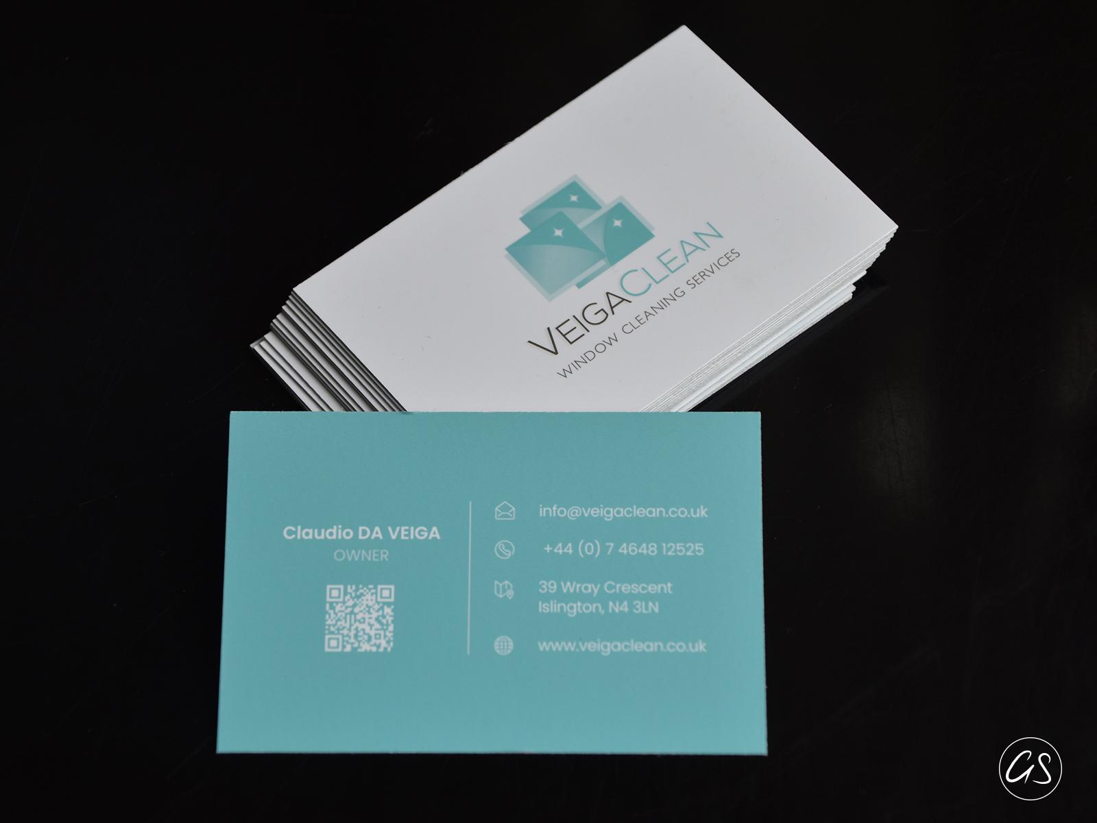 Création Graphique Carte de Visite / Business card Veigaclean